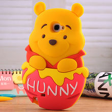 alibaba china supplier mobile phone accessory customized 3d bear silicone case for samsung galaxy s