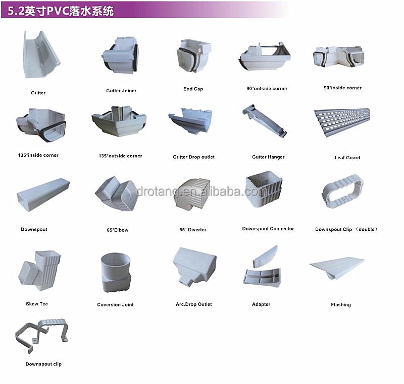 Rain Gutter Systems Pvc Material Skew Tee Buy Gutter Pvc
