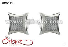 White Diamond Cufflink for men- Platinum diamond cufflink,diamond cufflink