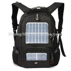 2015 new design best selling 5.5w 2400mAh solar laptop backpack