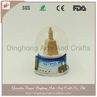 Custom Polyresin Base Crystal Ball City Snow Globes Wholesale
