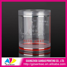 High end soft plastic round clear box, soft clear cylinder packaging box