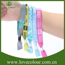 Top quality hot sale event fabric woven wristbands custom