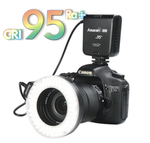 Aputure CRI95 LEDs Marco shooting continuous ring light
