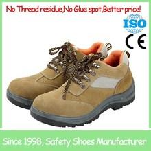 Sf6922 luz de corte bajo de color marrón de acero seguridad deporte zapatos baratos zapatos de seguridad