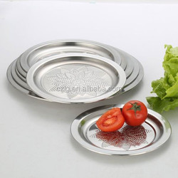 stainless steel dessert plates/soup plates/salad plates can customized