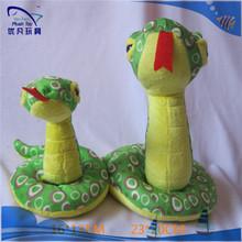 factory wholesale OEM ODM cotton soft simulate rattle snake plush toy stuffed rattlesnake toy