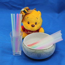 HOT SALE in USA funny color changing straws, plastic custom drinking straw, long straws for drinks
