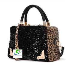 Sunshine Tour Women's Fashion Leopard Sequined Ladies Shoulder Messenger Bag Handbag Tote Purse Cross Body Bag