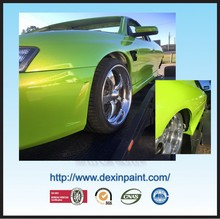 Supplier price metallic green solid color paint