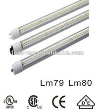 2012 Competitive ul/cul/csa/ce/rohs 1200mm/t8 light/LM79/LM80/high CRI/high PF