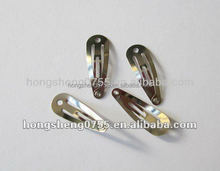 Factory supply baby girls plain metal hair clips