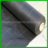 100 gsm PP plastic ground cover black mulch weed mat