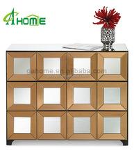 tonal mirrored dresser nightstand