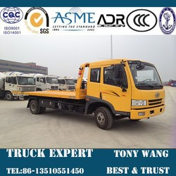 FAW 6 ton flat-bed tow truck, 4x2 tow truck for sale, wheelbase 4400mm