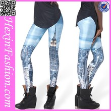 Wholesale with Fashion Legging Modern City Pattern Printed