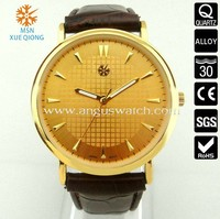 2013 new designed watch leather band watch china manufacturer
