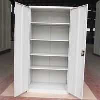 New style KD structure white grey 2 doors steel file cabinet