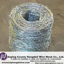 high tensile barded wire /security used barded wire/ cheap bared steel wire