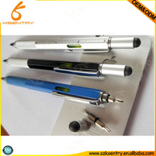 top hot multi-fuction tool pen, 5 in 1 stylus pen with spirit level, screwdriver and ruler