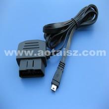 Professional obd2 ribbion cable Right angle car interface to mini usb diagnostic tool