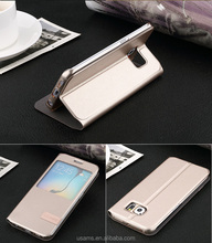new cell phone parts colorful flip leather cover case for samsung galaxy S6 Edge