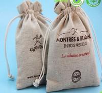 screen printed jute burlap gift bags