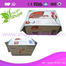 Breathable bamboo charcoal function chip sanitary pad