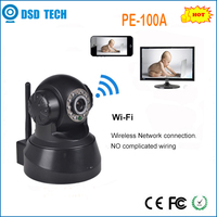 wireless 720P indoor IR-CUT H2.64 compression format CMOS/CCD p2p plug and play cctv camera