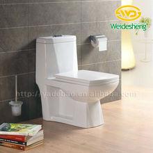 Dual Color One piece Toilet Water Closet Blue Toilet 352