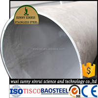 large diameter thin wall seamless stainless steel pipe