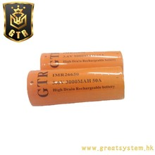GTR IMR26650 Battery 3.6V 3000mAh lithium-ion battery For e-cigarette Flashlight Electric tools