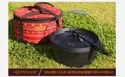 Korean style dutch oven cast iron cookware halogen oven parts