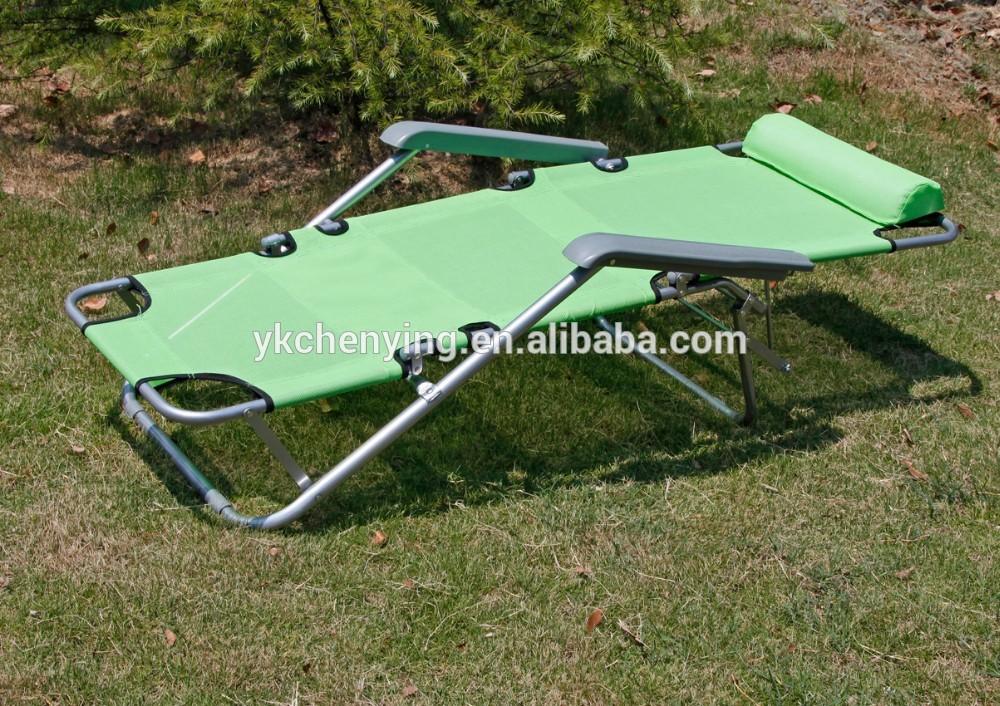 Transat de plage chaise pliante en m tal for Transat de plage pliant