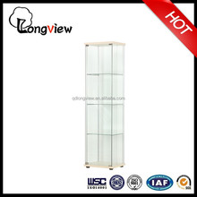 Modern glass-door display transparent cabinet(ivory),china factory tempered glass-door display wine cabinet