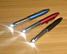 4 in 1 plastic laser pen with ball pen touch pen led light