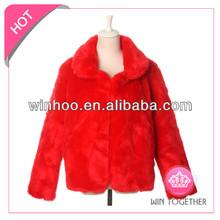 plus size red fox fur vest for women
