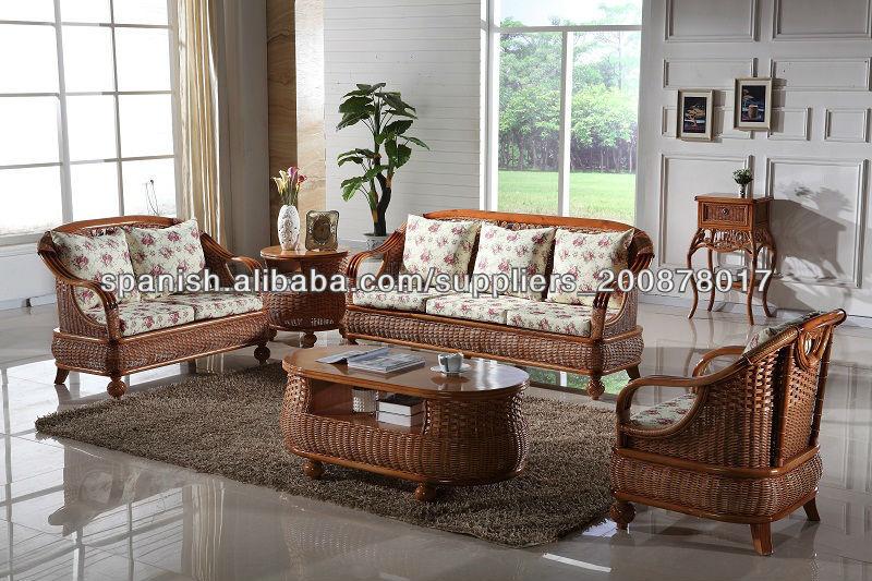 Rattan ca a vida sof s habitaciones sof s para la sala de - Muebles de bambu y mimbre ...