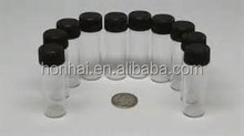 1ml clear glass perfume sampler vial/tester vial with PE plug