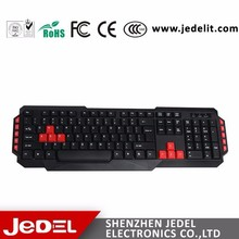 classic design usb port Multimedia Wired Keyboard with 10 hot keys