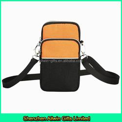 Outdoor Sport Canvas cell phone sling bag/mobile phone shoulder bag
