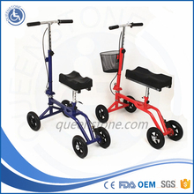 Folding knee walker knee scooter removeable basket FDA CE approved 120kg capacity