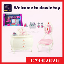 Funny Pretend Play Game Set Barbie Dollhouse Furniture Sets Musical Light Up Toy Miniature Jewelry Cabinets Playset for Kids