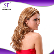 100% Fashinable Fiber synthetic hair wigs hong kong