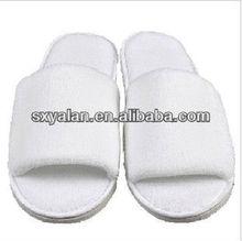 white open toe hotel coral fleece slippers/ washable croal fleece slippers
