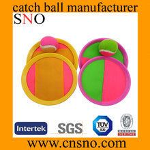 Kid toy sport game outdoor used suction ball catch game set catch ball