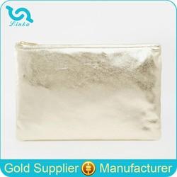 Fashion Gold Clutch Bag Metallic Leather Gold Clutch Bag