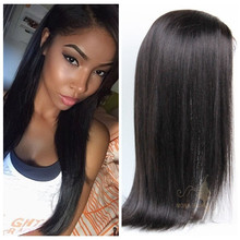 Fashion style 100% raw wholesale brazilian silky straight remy human hair weft, natural girls hair wig