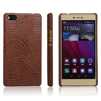 Luxury Crocodile Texture PU Leather Skin Phone Case Back Cover For Huawei P8 Max
