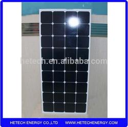 High efficiency flexible solar cell for RV for Marine 120w semi flexible solar panel